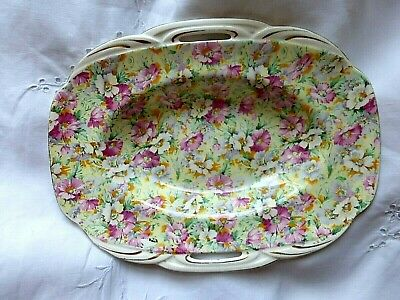 Vintage Ridgway Pottery Chintz Floral Serving Dish For Nibbles Nuts Sweets • 6.99£