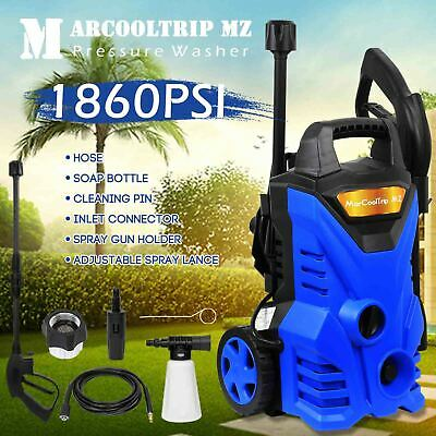 £66.99 • Buy Electric Pressure Washer 1860 PSI/128 BAR Water High Power Jet Wash Patio Car