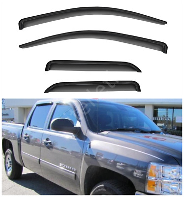 Stainless Steel Window Sill Trims 4PC Fits Chevy Silverado Double Cab 14-18