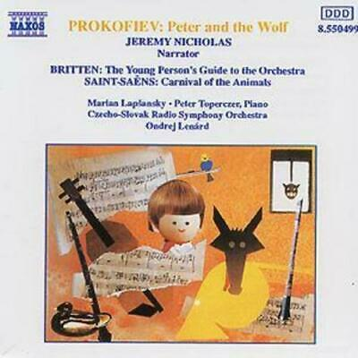 £2.24 • Buy Sergei Prokofiev : PETER And The WOLF - CARNIVAL Of The ANIMALS CD (1993)