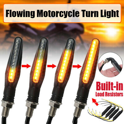 4PCS 12 LED Mini Motorcycle Motorbike Turn Signal Lights Indicators Amber Lamp X • 12.99£