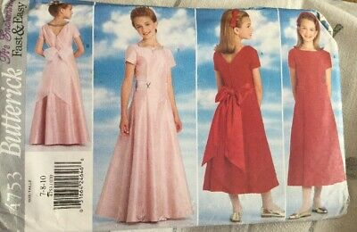 Sewing Pattern, Girls Dress, Party, Bridesmaid, Age 7. • 6.99£
