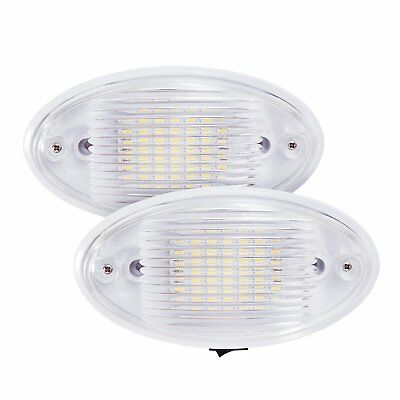 2x LED Ceiling Porch 12V RV Interior Exterior Light Fixture Trailer Camper Boat • 13.59$