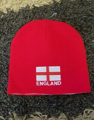£3.98 • Buy England Euro 2021 Football Reversible Red White Beanie Hat Up To 75%off Was 5.98