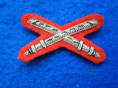 British Army Physical Training Instructors Bullion Mess Dress Badge, On Red   • 6£