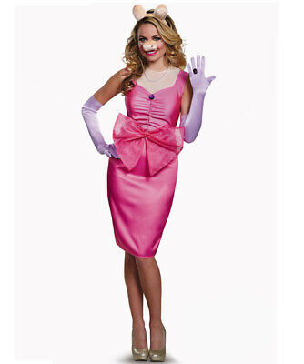 Deluxe Miss Piggy Costume The Muppets Outfit 80s Adults Film Cartoon Fancy Dress • 22.99£