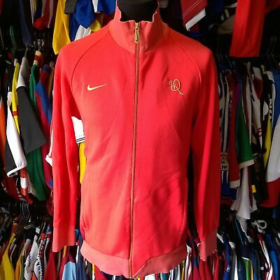Ronaldinho #10 Track Top Football Shirt Pink Red Nike Jersey Size Adult S • 29.99£