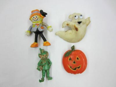 $ CDN13.20 • Buy Vintage HALLOWEEN Plastic Pin Pinback Brooch Lot Pumpkin Ghost Scarecrow Elf