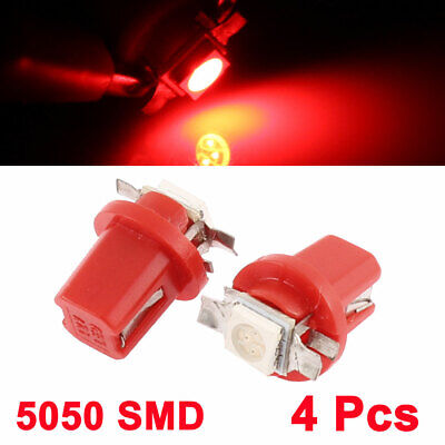 $ CDN10.99 • Buy B8.5D Red 5050 1-LED Instrument Cluster Speedometer Guage Light 4 Pcs Interior