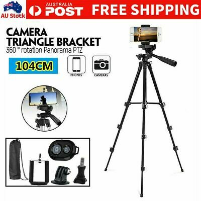 AU16.29 • Buy Universal Telescopic Camera Tripod Stand Holder Mount For Phone IPhone Samsung