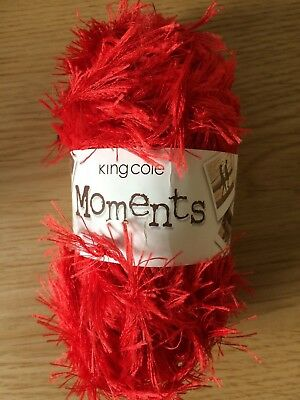 £1.79 • Buy King Cole Moments Yarn For Knitting/Crochet: 50g, Shade 478 Red