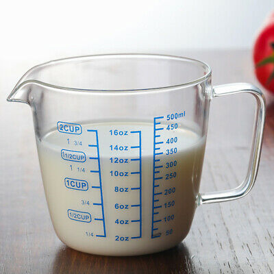 £8.49 • Buy Clear Glass Measuring Cup Heat-resistant Microwave Jug Three Scales S M Faddish