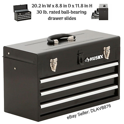View Details 3 Drawer Tool Box Portable Chest Cabinet Storage Organization Heavy Duty Steel • 59.78$
