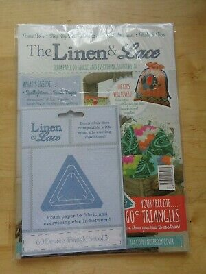The Linen & Lace Magazine - Issue 1 - Free 60° Triangles - Deep Dish Dies - New • 3.79£