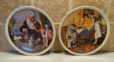 $ CDN14.94 • Buy  Vintage Lot 2 NORMAN ROCKWELL Mother's Day Plates 1982 1983 KNOWLES