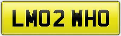 Limo Reg Number Plate Lm02 Who - Lmo Hummer H2 H3 Vip Lincoln Stretch Limousine • 499£