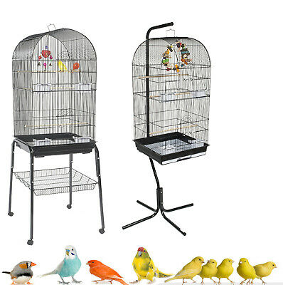 £29.99 • Buy Rainforest Caracus Large Black Budgie Cockatiel Finch Canary Cage & Stand