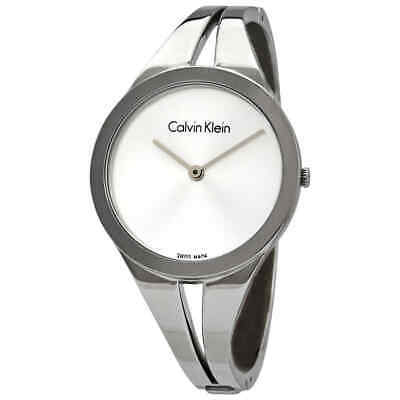 £37.26 • Buy Calvin Klein Addict Silver Dial Small Bangle Ladies Watch K7W2S116