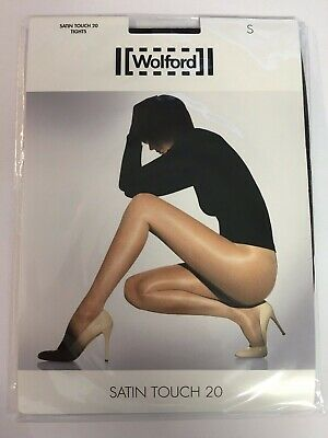 WOLFORD Satin Touch 20 Sheer Tights - Medium/Nearly Black (NEW) • 15£