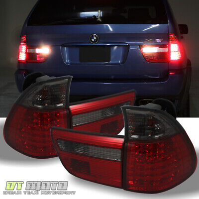 $196.99 • Buy 2000-2006 BMW X5 E53 Lumileds LED Red Smoke Tail Lights Brake Lamps Left+Right