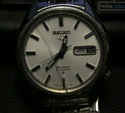 $ CDN119.95 • Buy Vintage Watch Seiko 5 Automatic 21 Jewels Japan Mouvement Arabe Days