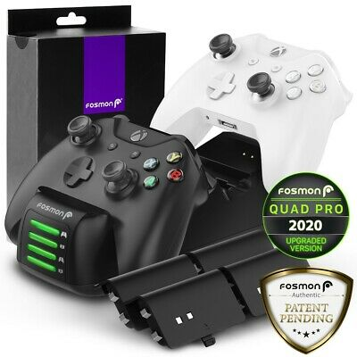 Fosmon Xbox One Controller LED Charging Dock Stand Station [4 BATTERY INCLUDED] • 36.99$