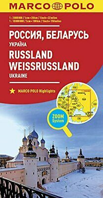 $14.89 • Buy Marco Polo Rusland- Witrusland: Wegenkaart 1:800 000 By Collectif Book The Fast