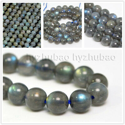 $ CDN6.59 • Buy 4/6/8/ 10mm Natural AAA Rainbow Labradorite Gemstone Round Loose Beads Chatoyant