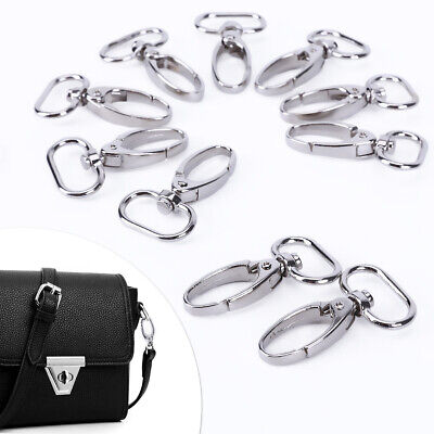 10x Bag Clasps Lobster Swivel Trigger Clips For 20 Or 25 Mm Strapping Key Rings • 6.99£