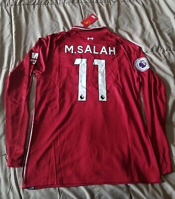 752fd838b Mohamed Salah  11 Liverpool 2018 19 Home Red Long Sleeve Jersey • 53.49