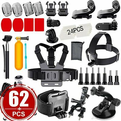 AU24.59 • Buy 62PC Camera GoPro Accessories Kit Action Camera Mount Full Accessory Set Sport
