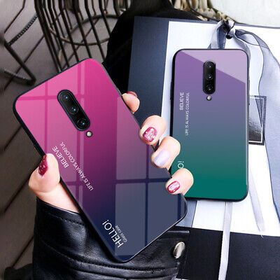 AU6.55 • Buy Gradient Tempered Glass Back TPU Bumper Case Cover For OnePlus 7 Pro 7 6T 6 5T 5