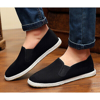 Traditional Rubber Sole Tai-chi / Kung Fu Shoes Unisex Canvas Slipper Shoes • 9.95£