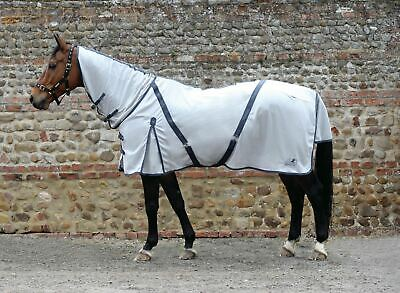 Masta Zing Fly Rugs With A Fixed Neck-For Horses - Silver-6'9-BN • 39.99£
