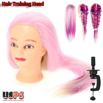 $18.46 • Buy New Colorful Hair Practice Training Head Mannequin Hairdressing Doll W/ Clamp US