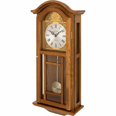 Fox And Simpson Oak Coloured Pendulum Wall Clock With Westminster Chimes • 151.99£