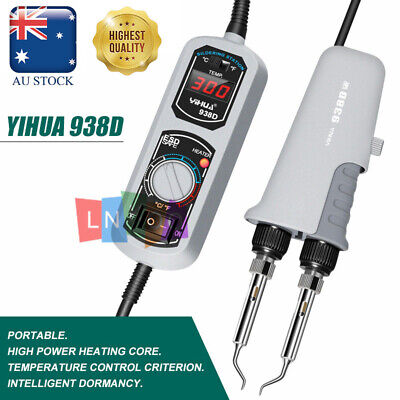 AU76.98 • Buy YIHUA 938D 220V Portable Hot Tweezers Mini Soldering Iron Station+ Heat Core