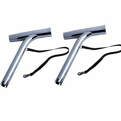 AU66.40 • Buy Pair Stainless Steel Marine Boat Outrigger Fishing Rod Holder For Yacht Kayak