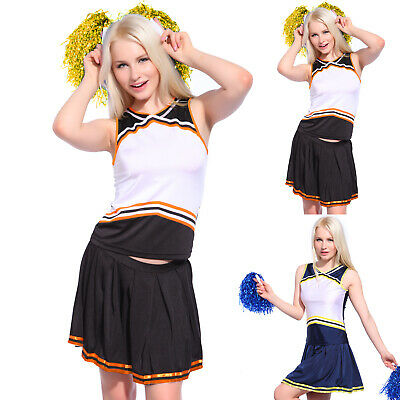 £10.99 • Buy Cheerleader Fancy Dress Outfit High School Musical Uniform Costume W/ Pompoms