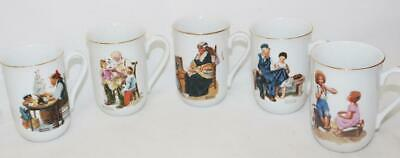 $ CDN10.19 • Buy Vintage Norman Rockwell Coffee Cups Mugs Lot Of 5 Museum Collection 1982