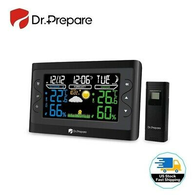 $35.14 • Buy Dr. Prepare Digital Weather Station Wireless Indoor Outdoor Thermometer (Black)