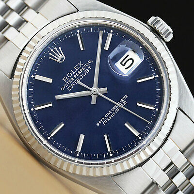 $ CDN4922.91 • Buy Rolex Mens Datejust Blue Dial 18k White Gold & Stainless Steel Watch