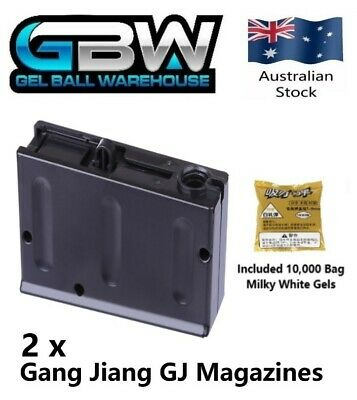 AU32.50 • Buy Gang Jiang GJ M24 Bolt Action Manual Sniper Rifle Gel Ball Blaster Magazine X 2