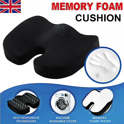 £9.49 • Buy Memory Foam Wedge Car Seat/Chair Cushion Lower Base Posture Support Thick  Soft