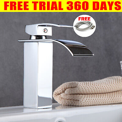 £24.64 • Buy Bathroom Waterfall Tap Basin Sink Mono Mixer Taps Cloakroom Chrome Brass Faucet