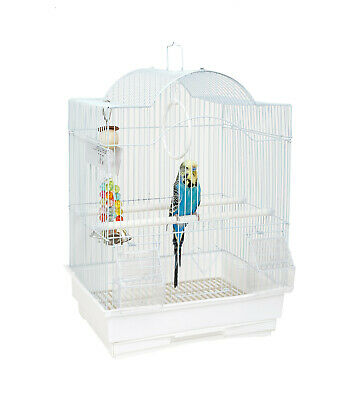 £19.99 • Buy Rainforest Panama Small White Bird Cage Budgie Canary Finch Travel Transport