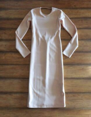 $14.99 • Buy ZARA Collection ~ New! NWT Small ~ Nude! LOW BACK Midi Bodycon Stretch Dress S
