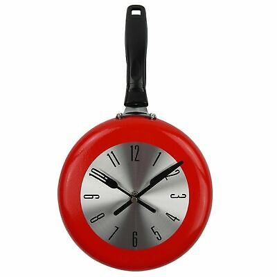 Wall Clock Frying Pan Shape Decoration Art Watch Design Kitchen Home Decor Metal • 13.88£