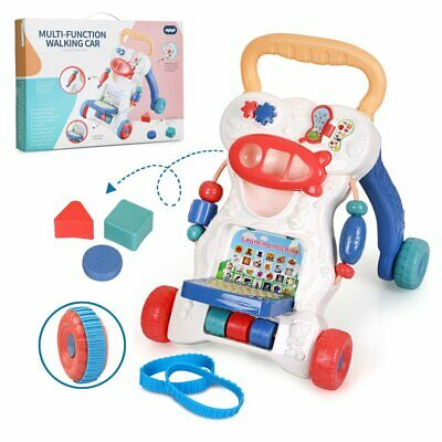 Baby Walker First Step Bouncer Push Along Mobility Toys Musical Walking Learning • 16.99£