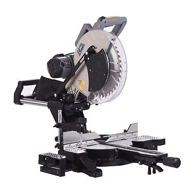 SwitZer Mitre Saw 12  Compound Sliding 1800W Double Bevel Cut With Laser Blade • 196.99£